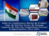 India Air Conditioners Market By Product Type (Light Commercial Air Conditioners, Chillers, VRFs, Ductable Splits & Others), By End Use Sector, By Tonnage Capacity (Below 2TR, 2-10TR, etc.), By Top City, Competition Forecast & Opportunities,