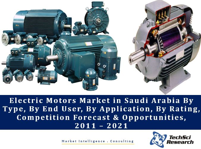 Electric Motors Market in Saudi Arabia By Type (AC and DC), By End User (Residential, Manufacturing, Commercial, Real Estate, etc.), By Application (Pumps, Compressors, Fans, etc.), By Rating, Competition Forecast and Opportunities, 2011 – 2021
