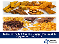 India Extruded Snacks Market By Type (Potato, Corn, Rice and Mixed Grain Extruded Snacks), By Region, By Company Forecast & Opportunities, 2021
