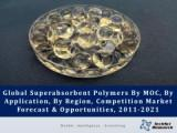Global Superabsorbent Polymers Market By MOC (Sodium Polyacrylate, Polyacrylamide Copolymer, etc.), By Application (Baby Diapers, Adult Incontinence Products, Feminine Hygiene Products, etc.), By Region, Competition Forecast & Opportunities, 2011-2021