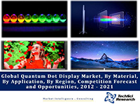 Global Quantum Dot Display Market By Material (Cadmium Selenium, Cadmium Tellurium, Non Toxic (Cadmium Free) and Others), By Application (Consumer Electronics, Healthcare, etc.), By Region, Competition Forecast and Opportunities, 2012 - 2021