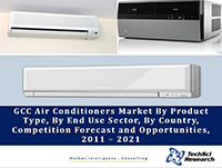 GCC Air Conditioners Market By Product Type (Split, Chiller, Window, VRF and Others), By End Use Sector (Commercial and Residential), By Country (Saudi Arabia, Qatar, UAE, Oman, Kuwait and Bahrain), Competition Forecast and Opportunities, 2011 – 2021