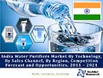 India Water Purifiers Market By Technology (RO, Gravity and UV), By Sales Channel (Direct Vs. Retail), By Region, Competition Forecast and Opportunities, 2011 – 2021
