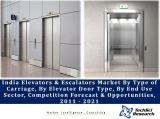 India Elevators and Escalators Market By Type of Carriage (Passenger, Freight & Others), By Elevator Door Type (Manual & Automatic), By End Use Sector (Residential, Commercial, Government Institutions & Industrial), Competition Forecast & Opportunities, 2011 - 2021