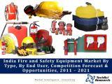 India Fire and Safety Equipment Market By Type (Fire Fighting, Fire Detection and Fire Protection), By End User (Industrial, Commercial and Residential), Competition Forecast & Opportunities, 2011 – 2021