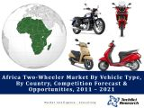 Africa Two-Wheeler Market By Vehicle Type (Motorcycle vs. Scooter), By Country (South Africa, Nigeria, Tanzania, Kenya, Algeria, Uganda, Egypt, Morocco, Angola and Ethiopia), Competition Forecast & Opportunities, 2011 – 2021