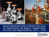 Global Industrial Valves Market By Type (Globe, Butterfly, Ball, Gate, Plug and Others), By Application (Oil & Gas, Power, Municipal, Refining, Chemical and Others), By Region, Competition Forecast and Opportunities, 2011 – 2021