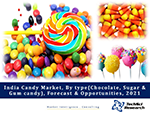 India Candy Market By Type (Chocolate, Sugar & Gum candy), Competition, Forecast & Opportunities, 2021