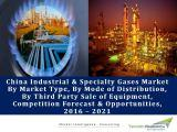 China Industrial & Specialty Gases Market By Market Type (Captive Vs. Merchant), By Mode of Distribution (Tonnage, PGP, & Bulk), By Third Party Sale of Equipment, Competition Forecast & Opportunities,