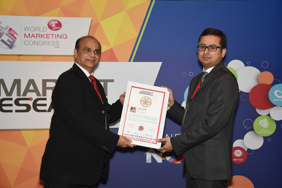 Mr. Karan Chechi at World Marketing Congress in Mumbai