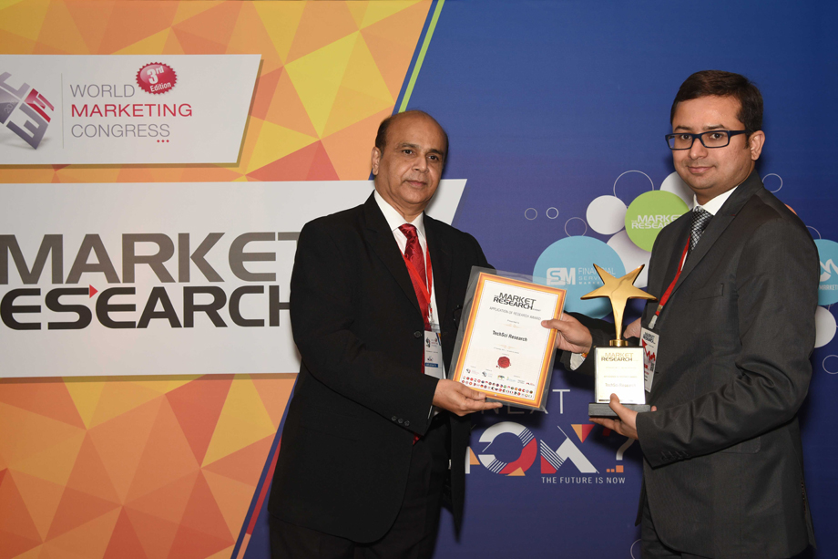 "Awarded for ""APPLICATION OF RESEARCH"" in World Marketing Congress"