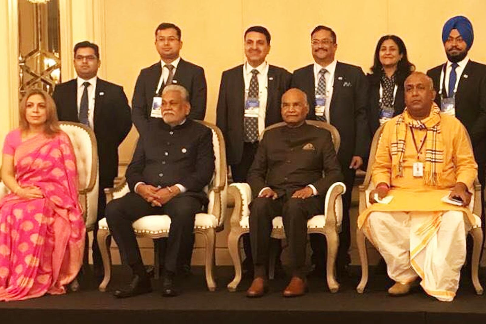 Hon'ble President of India Shri Ram Nath Kovind, Mr. Karan Chechi and other dignitaries in Bulgaria