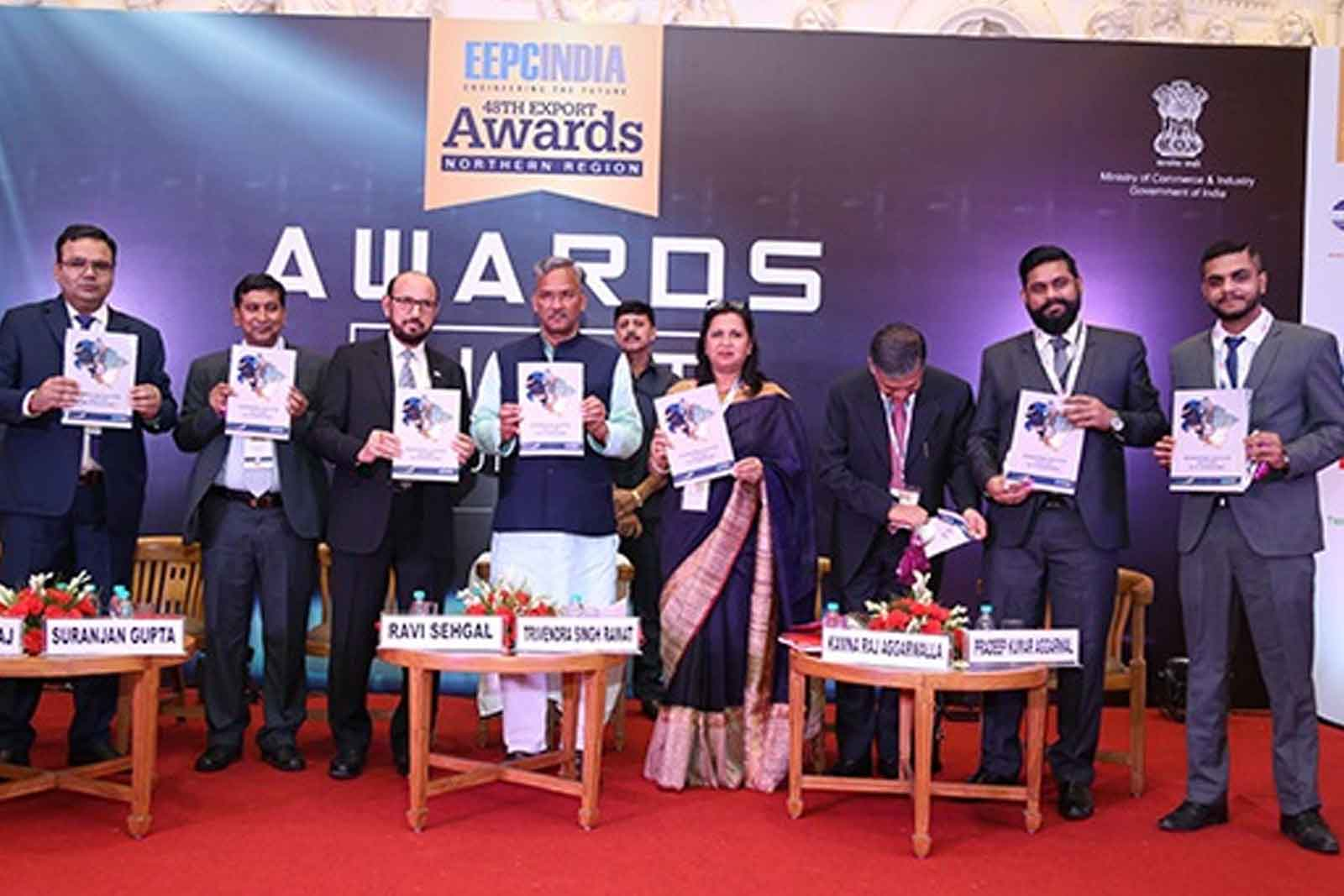 Mr. Trivendra Singh Rawat, Hon`ble Chief Minister of Uttarakhand, Mr. Rakesh Suraj (EEPC India), Ms. Kamna Raj Aggarwalla, (EEPC India), Mr. Mahesh Bendre (TechSci Research), Mr. Rishabh Pathela (TechSci Research) and others.